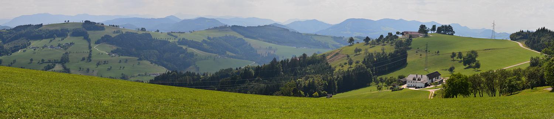 Panorama vom Mostviertler Höhenweg nach Süden